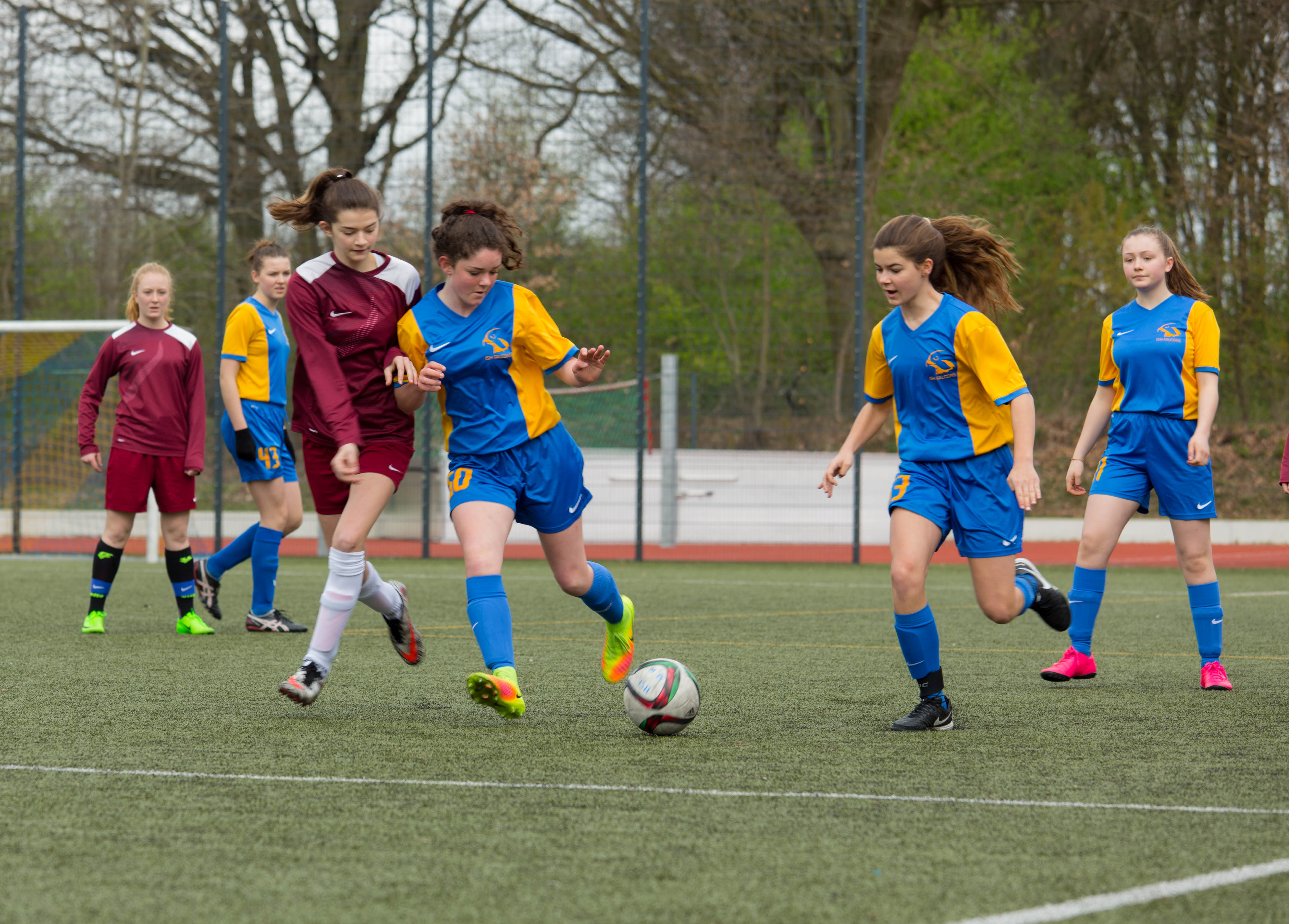 International School of Hamburg football students