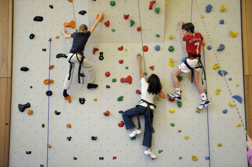 International School of Hamburg climbing wall