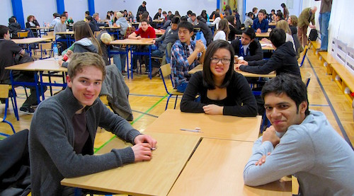 ISH Secondary Students at a Maths Competition